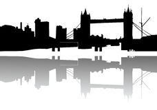 London skyline silhouette Royalty Free Stock Photography