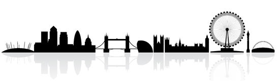 London skyline silhouette Royalty Free Stock Photo