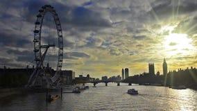 London skyline silhouette stock video footage