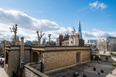 London Skyline with skysrapers on blue backgroung. London Skyline with skysrapers, blue backgroung Stock Photography