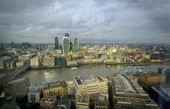 London Skyline with a slight vignette in London. United Kingdom, Stock Photography