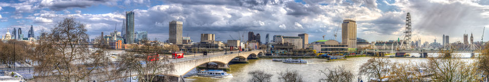 London Skyline. Spanning from Big ben to St Pauls cathedral stock photo