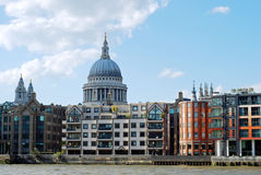 London skyline with st paul's cathedral Royalty Free Stock Photos