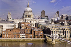 London Skyline with St. Paul's Cathedral Royalty Free Stock Image