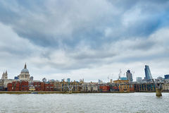 London skyline with St. Paul's cathedral Stock Image