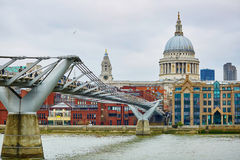 London skyline with St. Paul's cathedral Royalty Free Stock Images