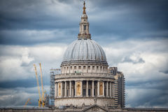 London skyline st pauls and thames Stock Image
