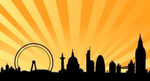 London-Skyline strahlen Hintergrund Lizenzfreies Stockfoto