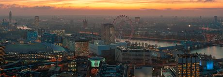 Golden London Skyline royalty free stock photos