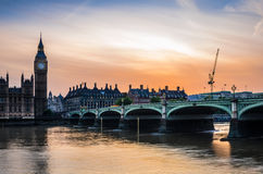 London Skyline at Sunset Stock Photos