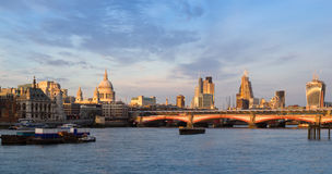 London skyline at sunset Stock Image