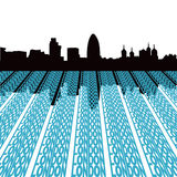London skyline with text Stock Image