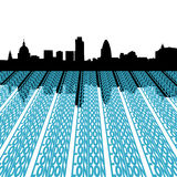 London skyline with text royalty free illustration
