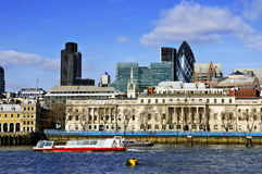 London skyline from Thames river Stock Image