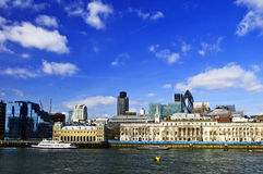 London skyline from Thames river Stock Photos