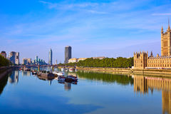 London Skyline from Thames river Royalty Free Stock Image