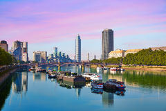 London Skyline from Thames river Stock Photography