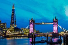 London Skyline with Tower Bridge Royalty Free Stock Photography