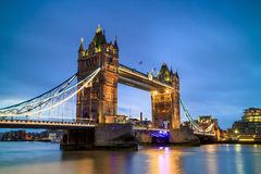 London skyline with Tower Bridge at twilight Stock Photography