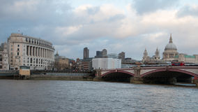 London Skyline. View across the Thames from the South Bank to the City of London Royalty Free Stock Photography