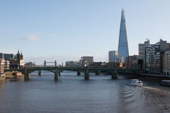 London Skyline. View down the River Thames from the Millennium Bridge Stock Photography