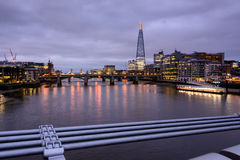 London skyline - view over the Thames Royalty Free Stock Images