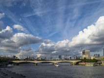 London skyline. View of the London skyline and river Thames, UK Stock Photography