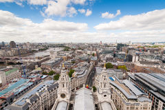 London Skyline view from St. Paul's Cathedral. England stock photo