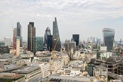 London skyline. Skyline view of London, UK Stock Photo