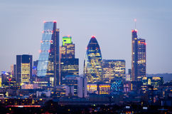 London, Skyline von Greenwich Lizenzfreies Stockfoto