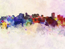 London ON skyline in watercolor Stock Images
