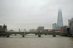 London skyline on a wet Autumn day. Stock Photos