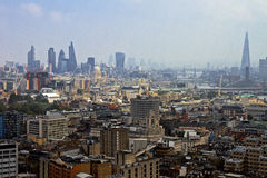London Skyline. A wide shot of the London skyline looking towards The City of London stock photo