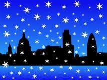 London skyline in winter Stock Photo