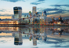 London Skylines at dusk England, UK Stock Image