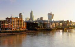 London Skylines at dusk England UK royalty free stock photography