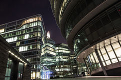 London skyscrapers and city hall Royalty Free Stock Images