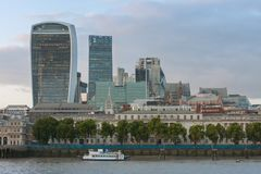 London skyscrapers in City of London at sunset time Stock Image