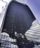 London skyskrapabyggnad Arkivbild