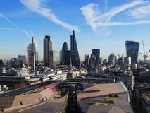London skyskrapahorisont från St Paul Royaltyfria Foton