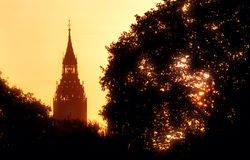 London soluppgång Arkivfoto