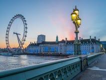 London soluppgång Arkivbilder