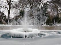 London som fryser 2018 Arkivbilder