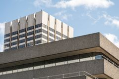 Old 60s 70s buildings in London Stock Photography
