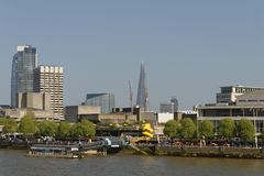London: Southbank Centre And City Skyscrapers Stock Photo