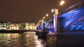 London Southwark Bridge stock video