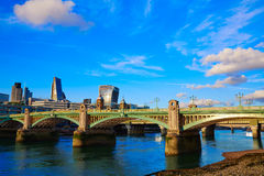 London Southwark bridge in Thames river Royalty Free Stock Photos