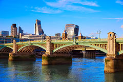 London Southwark bridge in Thames river Royalty Free Stock Photography
