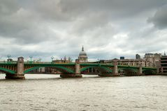 London Southwark bridge Royalty Free Stock Images
