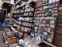 London souvenir memorabilia shop in London Royalty Free Stock Photos
